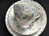 Tuscan china Art Deco tea trio